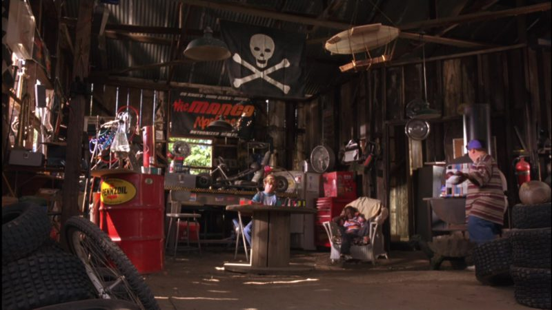 Pennzoil Oil Barrel in Little Giants (1994) - Movie Product Placement