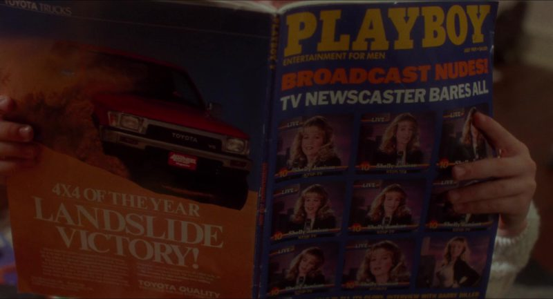 Playboy Magazine and Toyota Truck Advertising in Home Alone (1990) - Movie Product Placement