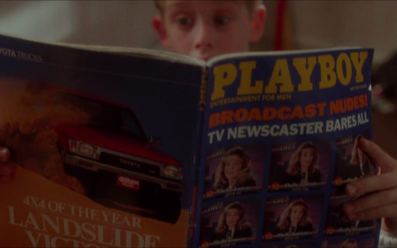 Playboy Magazine and Toyota Truck Advertising in Home Alone (2)