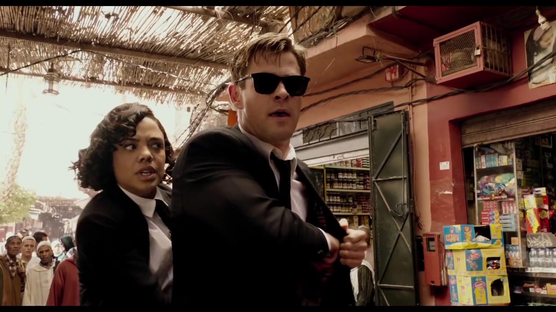 e40d2acc72c Police Sunglasses Worn by Chris Hemsworth in Men in Black  International ( 2019) Movie