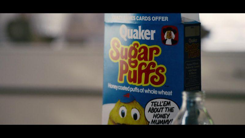 Quaker Sugar Puffs Honey-Flavoured Breakfast Cereal in Black Mirror: Bandersnatch (2018) Movie Product Placement
