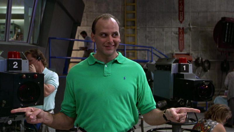 Ralph Lauren Green Polo Shirt Worn by Kurt Fuller in Wayne's World (1992) - Movie Product Placement
