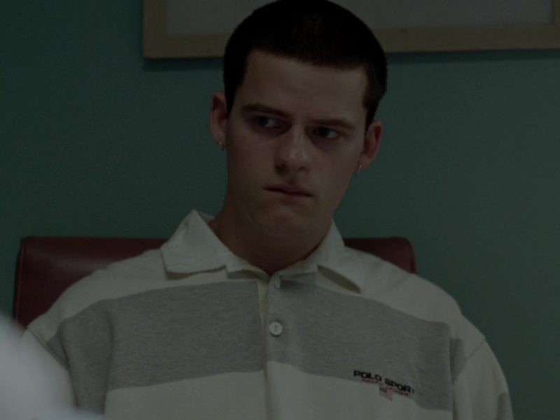 Ralph Lauren Polo Sport Long Sleeve Shirt Worn by Lucas Hedges in Mid90s (2018) Movie Product Placement