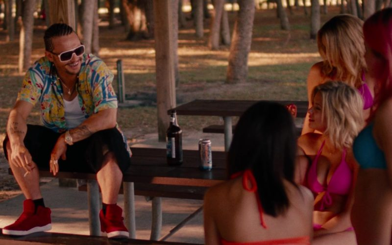 SUPRA Red Sneakers Worn by James Franco (Alien) in Spring Breakers (2)