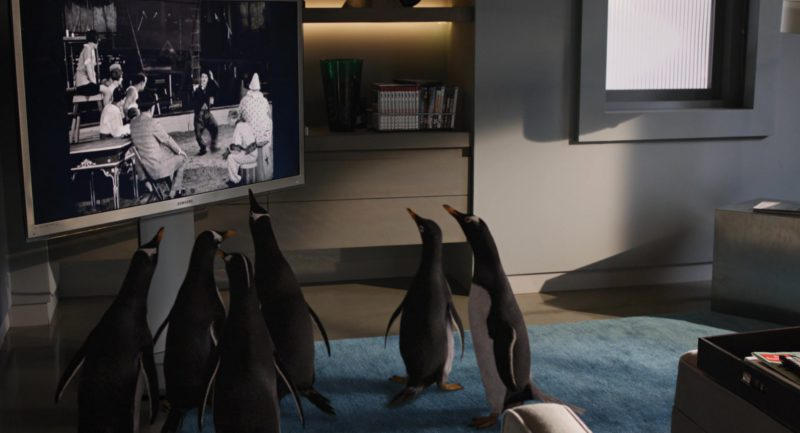 Samsung TV in Mr. Popper's Penguins (2011) Movie Product Placement