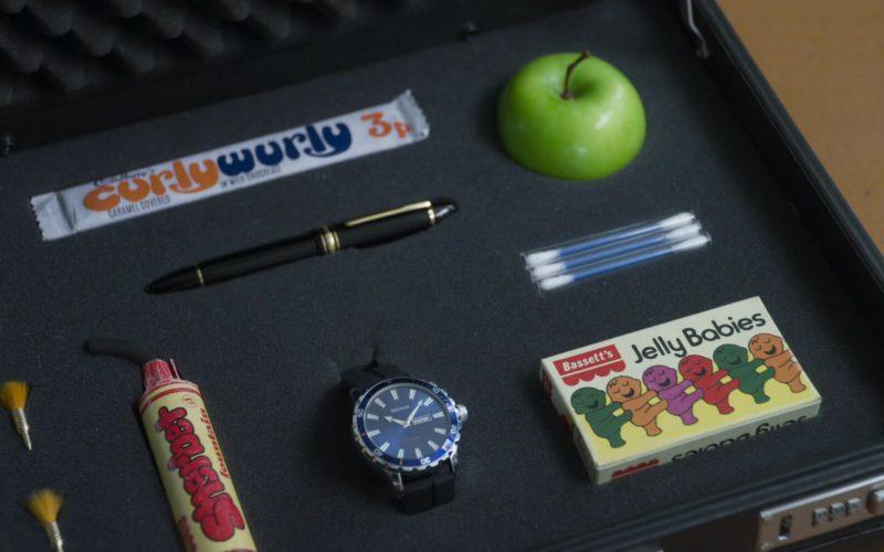 Sekonda Men's Watch, Curly Wurly Chocolate Bar, Bassetts Jelly Babies in Johnny English Strikes Again