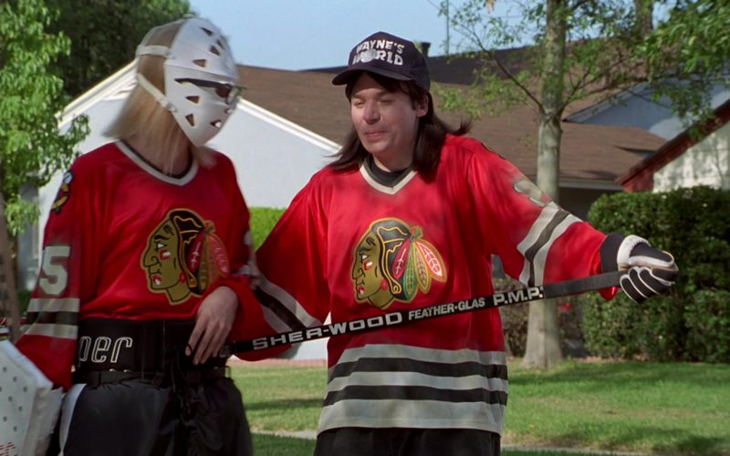 Sher-Wood Ice Hockey Stick Used by Mike Myers in Wayne's World