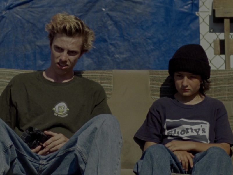 Shorty's T-Shirt Worn by Sunny Suljic in Mid90s (2018) - Movie Product Placement