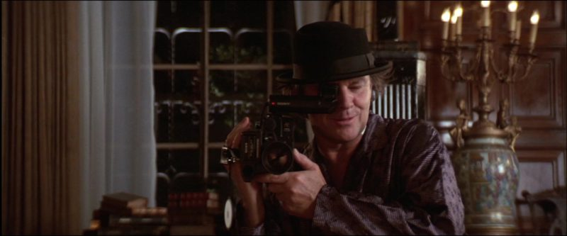 Sony Video Camera Used by Jack Nicholson in The Witches of Eastwick (1987) Movie Product Placement