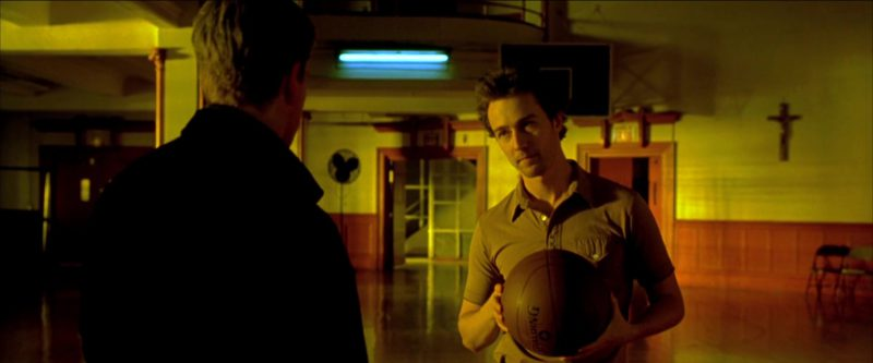 Spalding Basketball Held by Edward Norton in Rounders (1998) Movie Product Placement