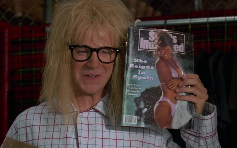 Sports Illustrated Magazine Held by Dana Carvey in Wayne's World 2