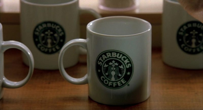 Starbucks Mugs in I Am Sam (2001) - Movie Product Placement