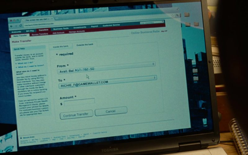 Toshiba Laptop Used by Justin Timberlake in Runner Runner (1)