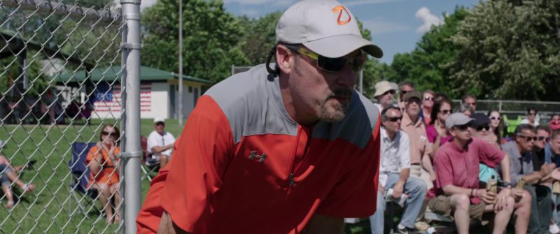 Under Armour Grey-Orange Short Sleeve Shirt For Men in All Square (2018) - Movie Product Placement