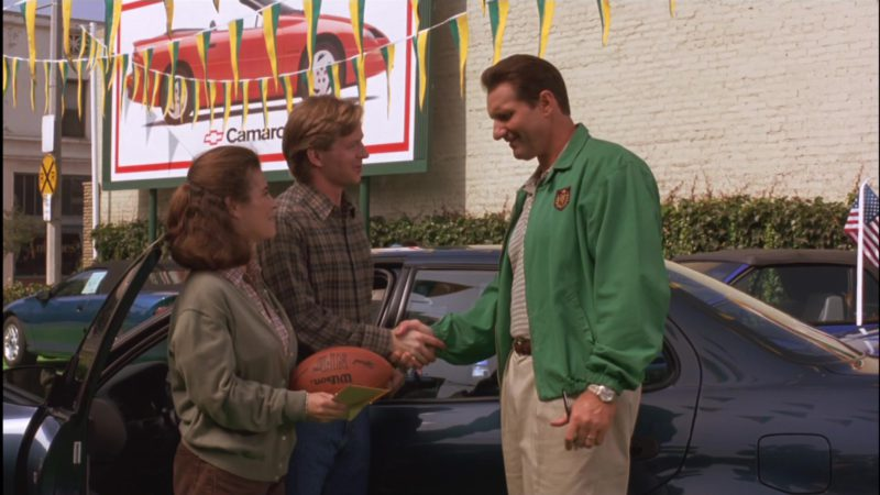 Wilson NFL Football and Chevrolet Camaro Billboard in Little Giants (1994) Movie Product Placement