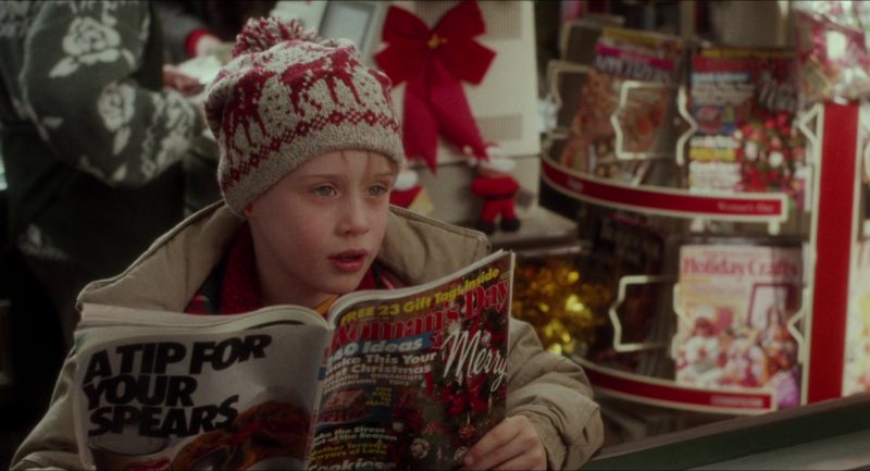 Woman's Day Magazine Held by Macaulay Culkin (Kevin McCallister) in Home Alone (1990) - Movie Product Placement