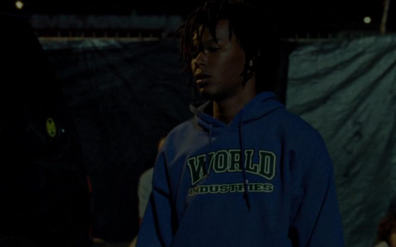 World Industries Blue Hoodie Worn by Na-kel Smith in Mid90s (3)