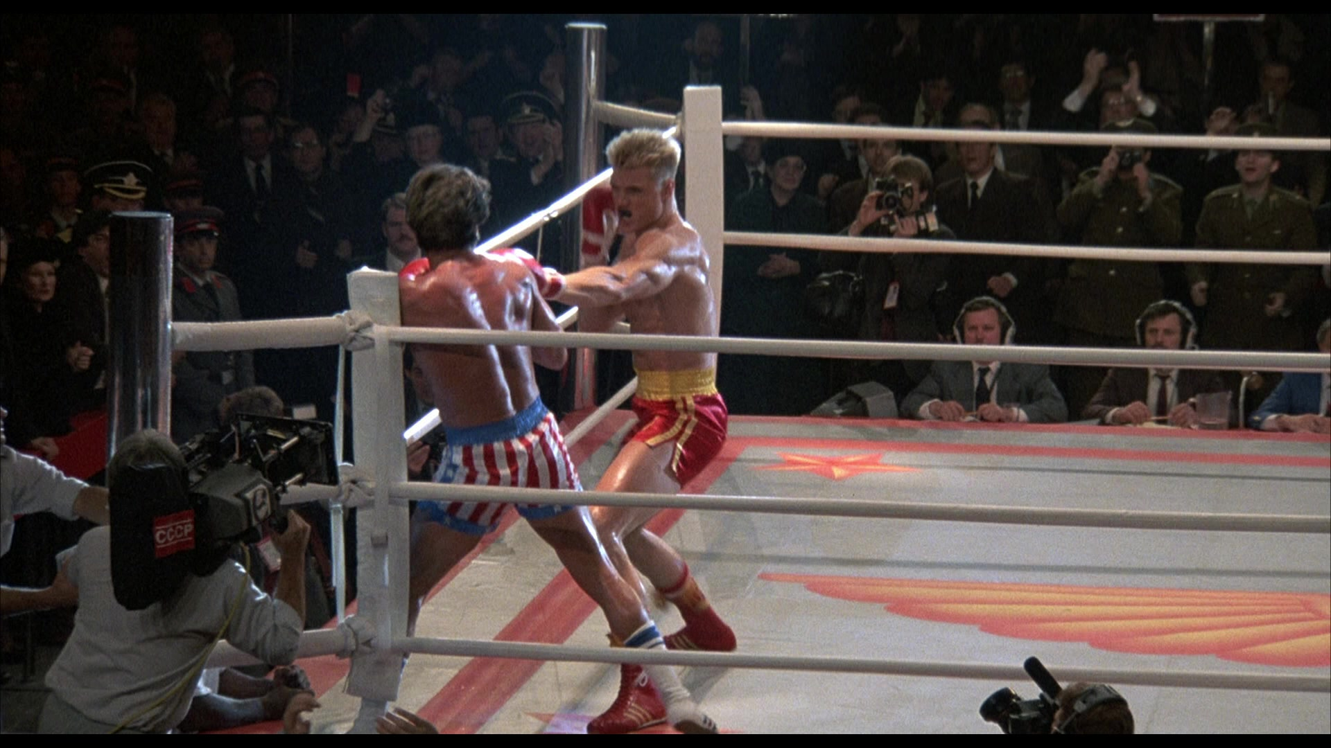 adidas boxing red shoes worn by dolph lundgren captain
