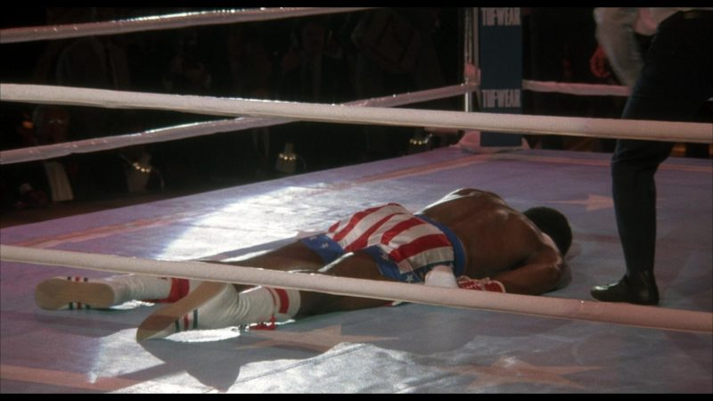 Adidas Boxing White Shoes Worn by Carl Weathers (Apollo Creed) in Rocky 4 (1985) Movie Product Placement