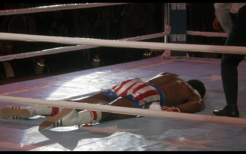 Adidas Boxing White Shoes Worn by Carl Weathers (Apollo Creed) in Rocky 4