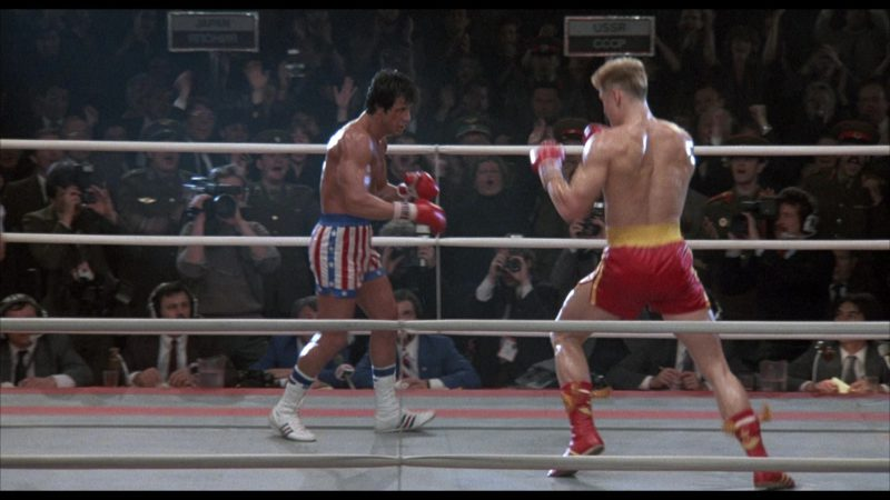 Adidas Boxing White Shoes Worn by Sylvester Stallone (Rocky Balboa) in Rocky 4 (1985) - Movie Product Placement