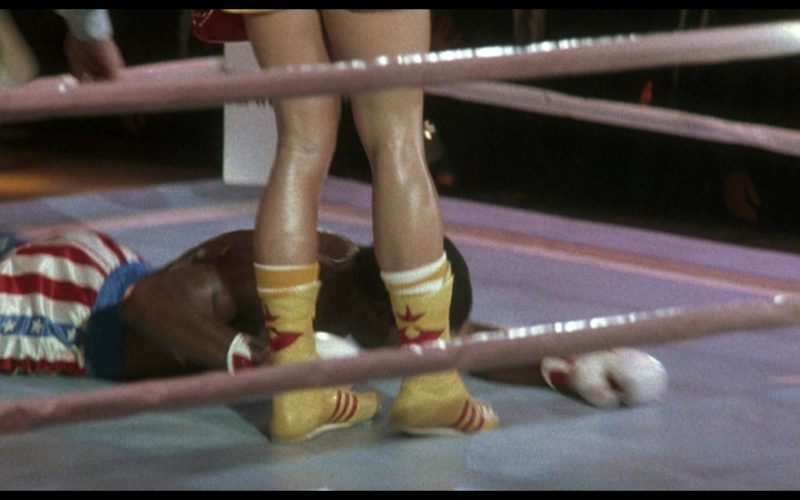 Adidas Boxing Yellow Shoes Worn by Dolph Lundgren (Captain Ivan Drago) in Rocky 4