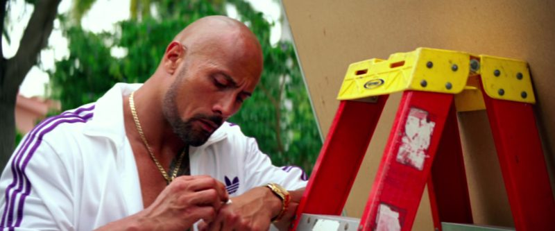 Adidas Jacket (White) Worn by Dwayne Johnson in Pain & Gain (2013) - Movie Product Placement
