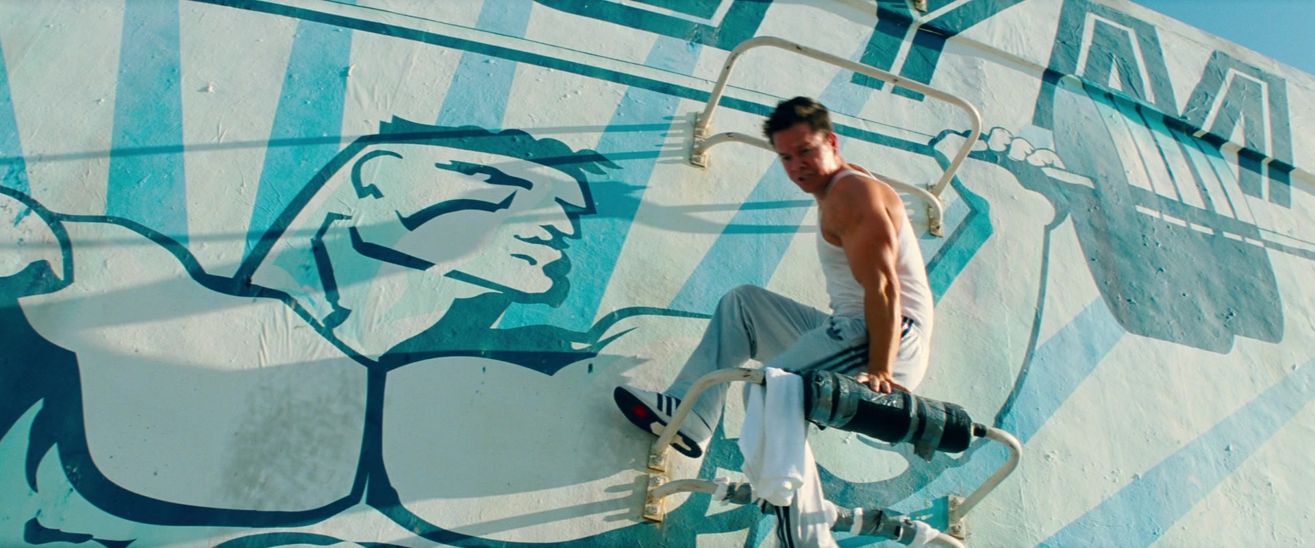 Adidas Pants And Shoes Worn By Mark Wahlberg In Pain