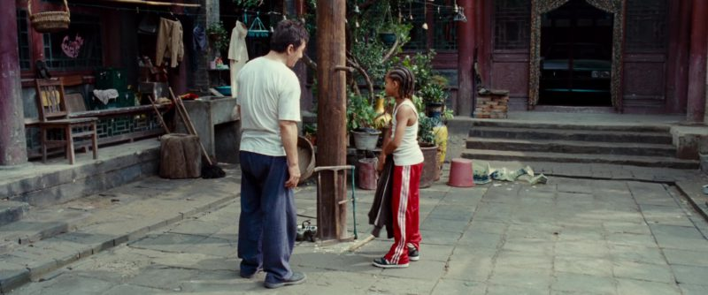 Adidas Red Track Pants And Shoes Worn by Jaden Smith in The Karate Kid (2010) Movie Product Placement