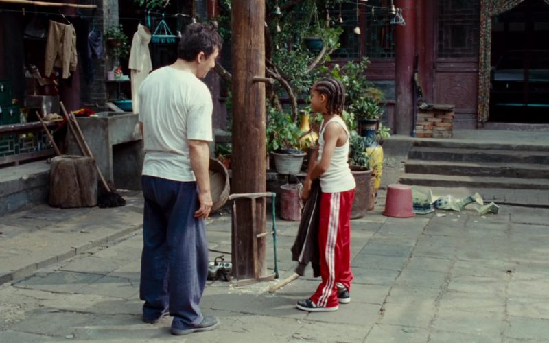 Adidas Red Track Pants And Shoes Worn by Jaden Smith in The Karate Kid