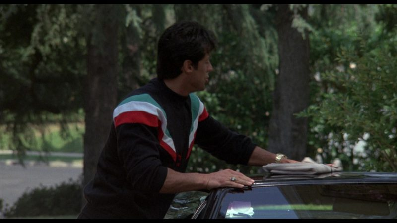 Adidas Sweatshirt Worn by Sylvester Stallone (Rocky Balboa) in Rocky 4 (1985) Movie Product Placement