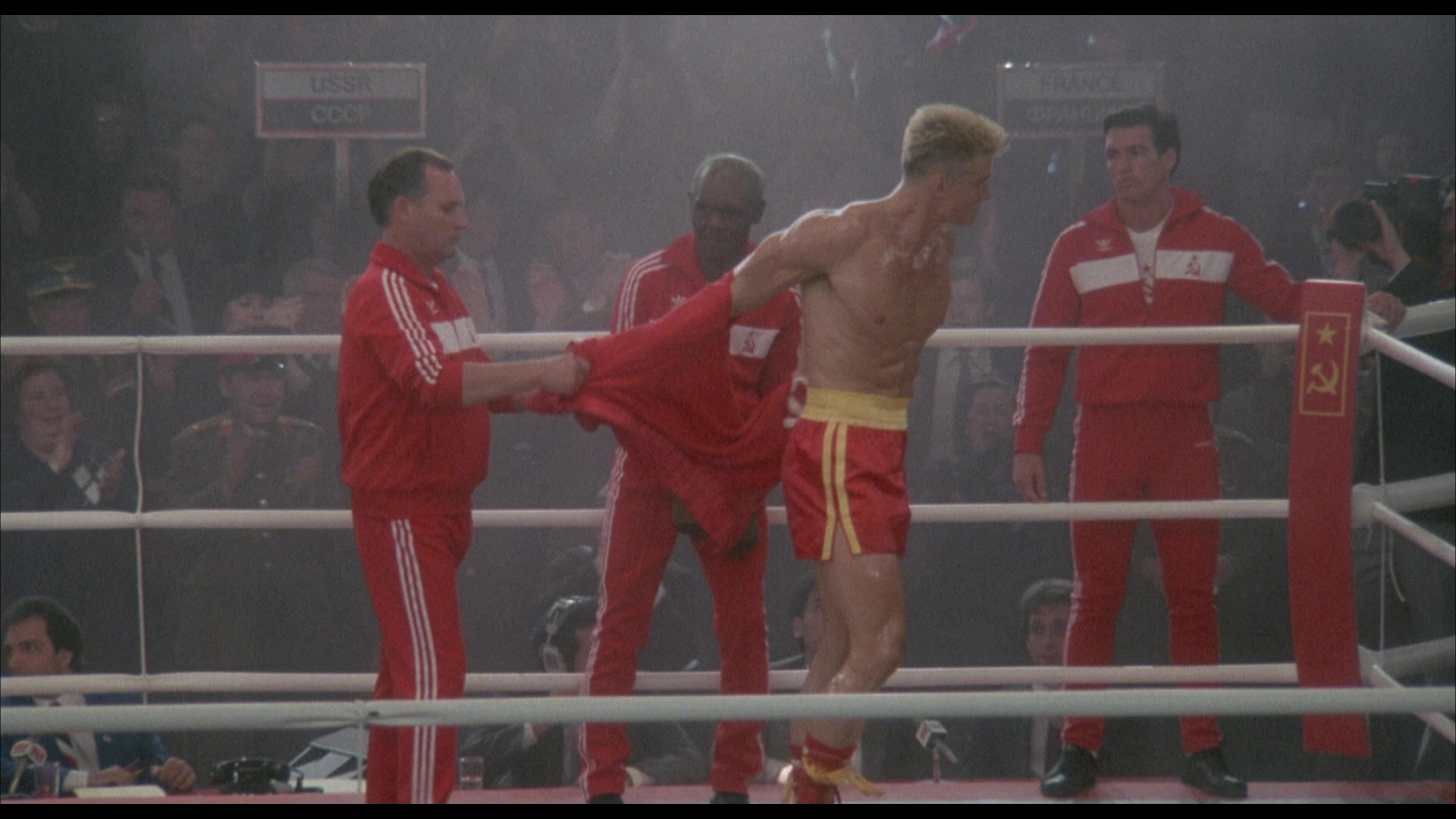Adidas Tracksuits (Red) Worn By Russians In Rocky 4 (1985)