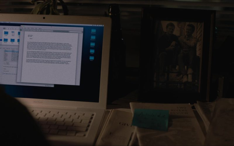 Apple White Macbook Laptop Used by Lucas Hedges in Boy Erased
