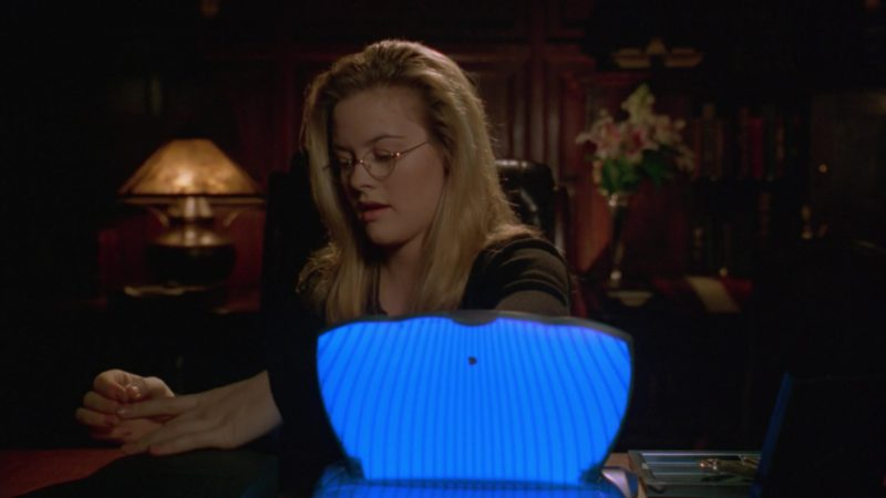 Apple eMate 300 Laptop Used by Alicia Silverstone in Batman & Robin (1997) - Movie Product Placement