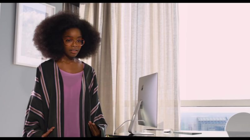 Apple iMac Computer Used by Marsai Martin in Little (2019) Movie Product Placement