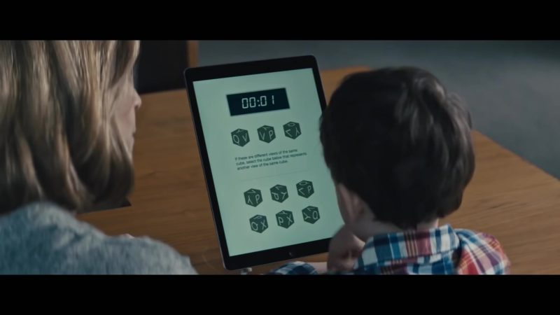 Apple iPad Used by Jackson Robert Scott in The Prodigy (2019) - Movie Product Placement