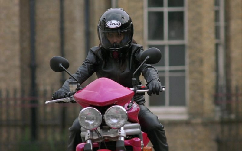 Arai Helmet and Triumph Speed Triple 955i Motorcycle in Johnny English