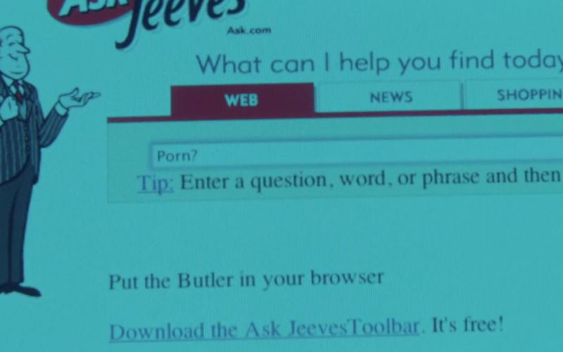 Ask.com (Ask Jeeves) Website in Summer '03 (1)