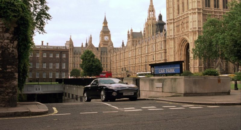 Aston Martin DB7 Vantage Sports Car Used by Rowan Atkinson in Johnny English (2003) Movie