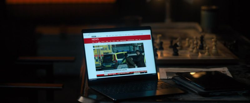 BBC News Website in The Girl in the Spider's Web (2018) - Movie Product Placement