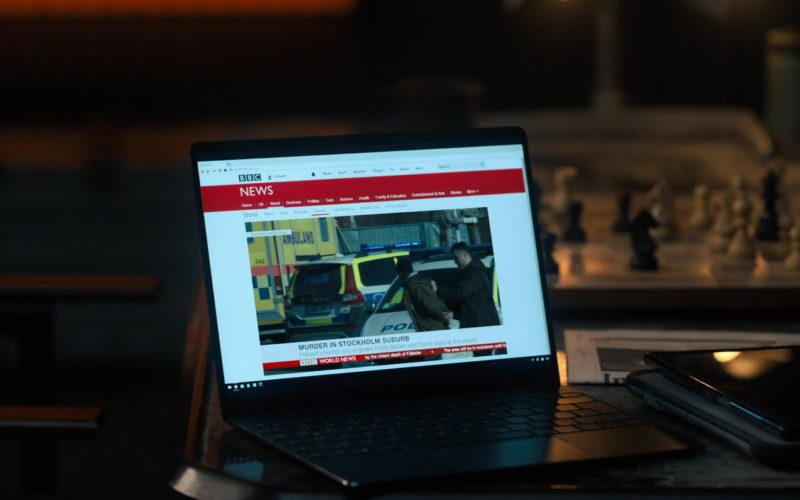 BBC News Website in The Girl in the Spider's Web