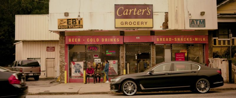 BMW 7 Series Car Driven by Anthony Mackie in The Hate U Give (2018) - Movie Product Placement