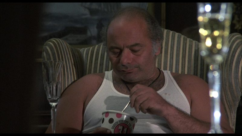 Baskin-Robbins Ice Cream Held by Burt Young (Paulie Pennino) in Rocky 4 (1985) Movie Product Placement