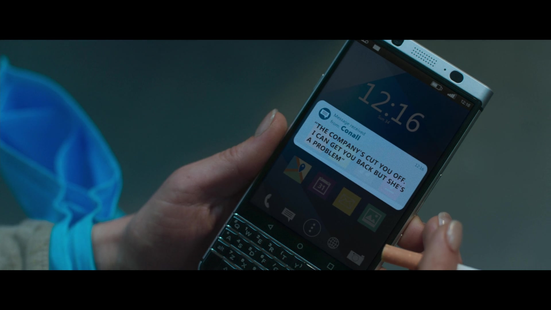 BlackBerry KEYone Secure QWERTY Android Smartphone Used by Noomi