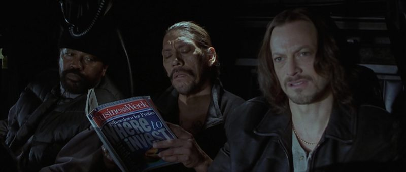 Bloomberg Businessweek Magazine Held by Danny Trejo in Reindeer Games (2000) Movie Product Placement