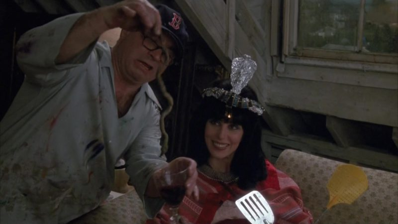 Boston Red Sox Baseball Team Cap Worn by Bob Hoskins in Mermaids (1990) - Movie Product Placement