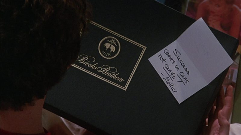 Brooks Brothers Box in Head Office (1985) Movie Product Placement
