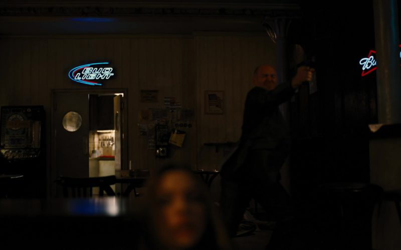 Bud Light Beer Neon Sign in The Dark Knight Rises