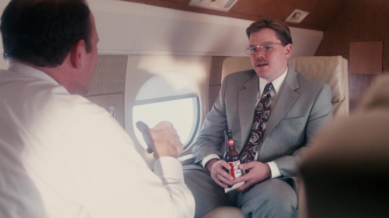 Budweiser Beer Drunk by Matt Damon in The Informant! (2009) Movie Product Placement