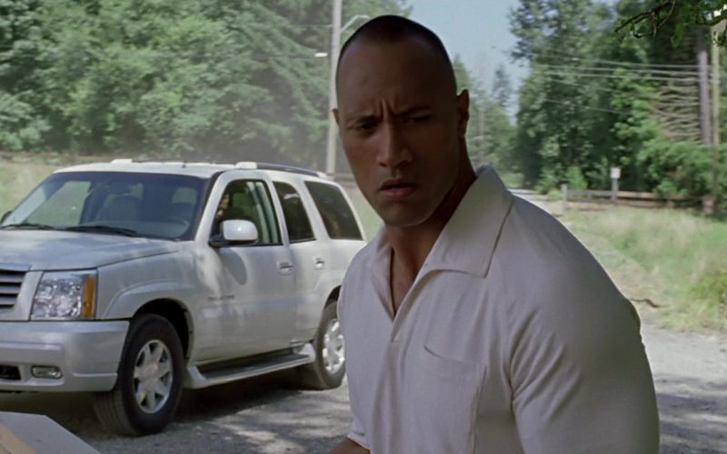 Cadillac Escalade White SUV in Walking Tall (1)